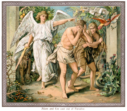 Adam and Eve cast out of Paradise